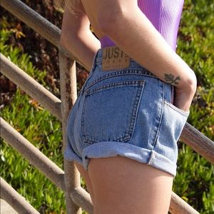 Pants - Vintage denim shorts by Just Jeans
